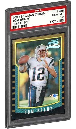 Top 50 Tom Brady Rookie Cards Best Psa Graded Tom Brady Rc