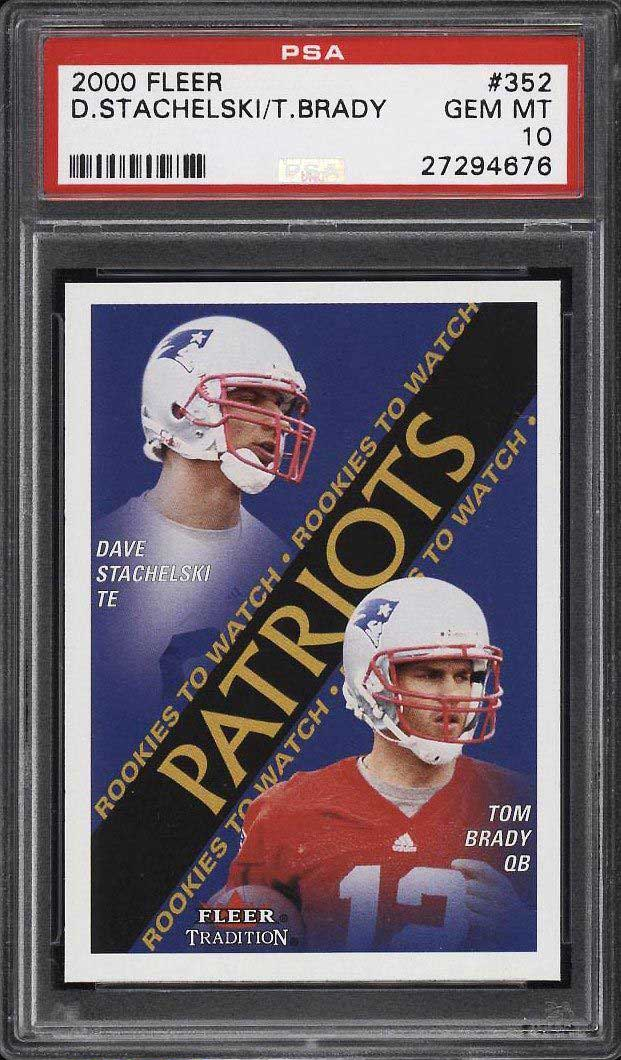 Top 50 Tom Brady Rookie Cards Best Psa Graded Tom Brady Rc