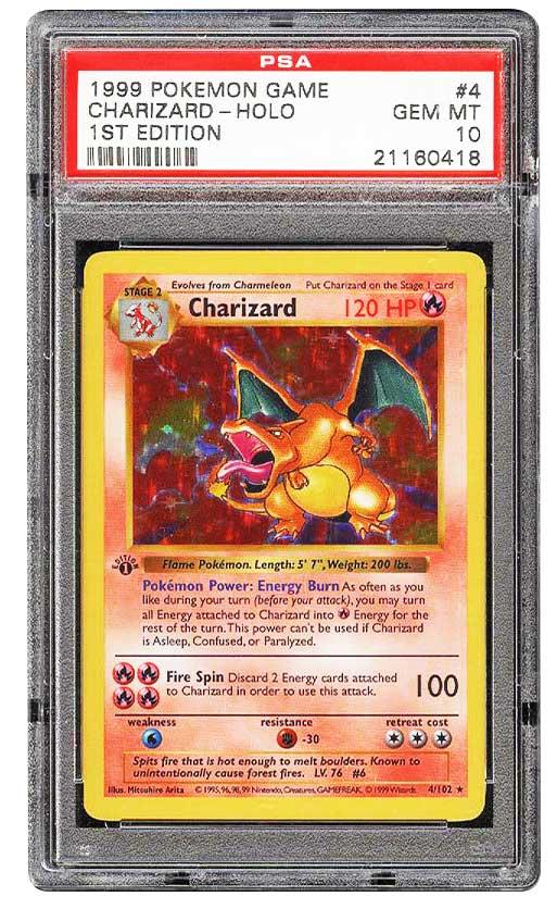 1999 Pokemon Charizard 1st edition Graded psa 10 Gem Mint #4