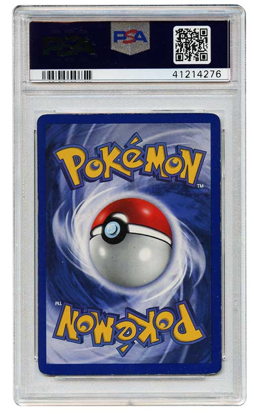 1999 charizard 1st edition holo #4 psa graded 6 pokemon back