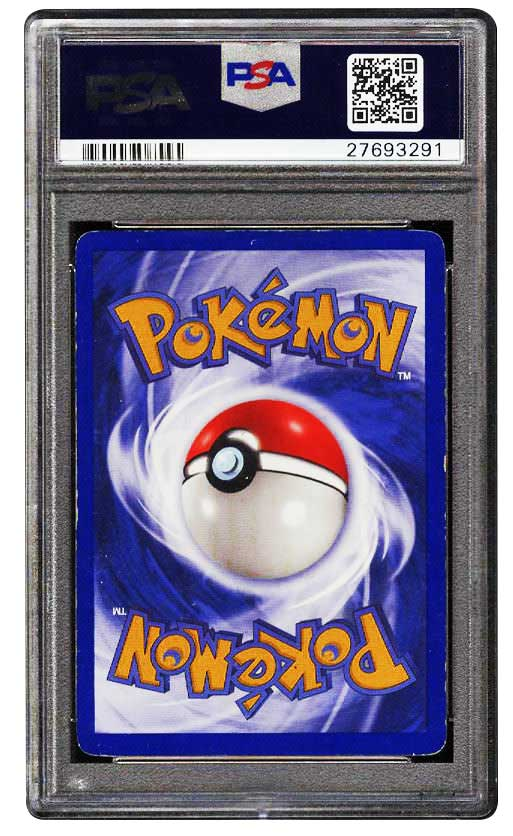 1999 charizard 1st edition holographic #4 graded psa 5 EX back
