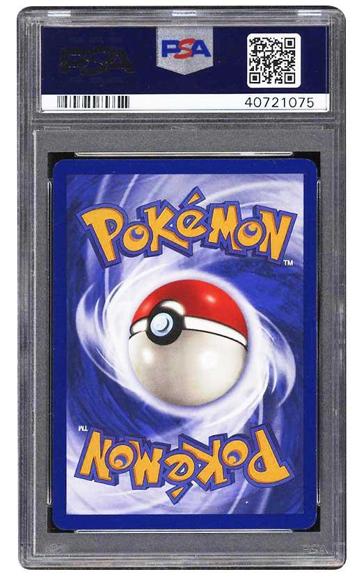 1999 charizard pokemon game psa 8 back