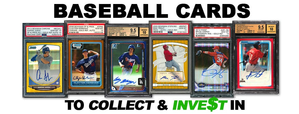 Top 8 Best Baseball Cards To Collect 2019 Future Hall Of Fame