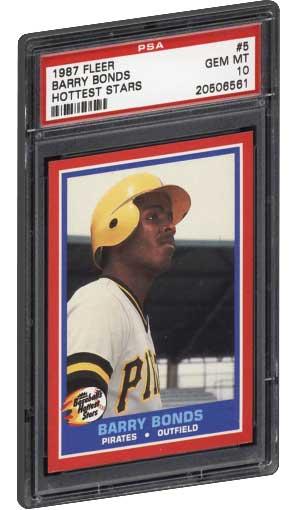 Best Barry Bonds Rookie Baseball Card Psa Graded Fleer
