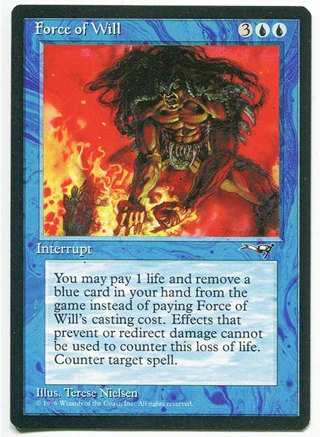 BEST BLUE MTG CARDS TO GET GRADED PSA FORCE OF WILL INVEST MAGIC THE GATHERING