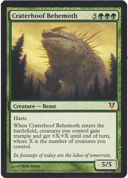 Best Green Cards in Commander Format craterhoof behemoth