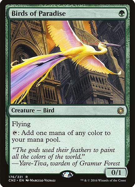 MTG Best Green Cards in Commander Format Birds of paradise