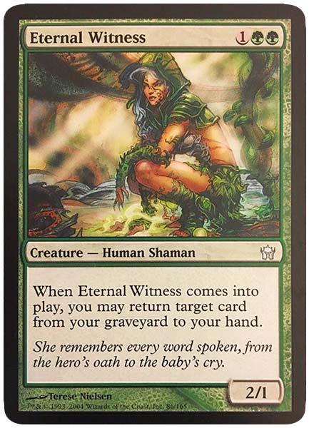best green cards in commander format eternal witness 2