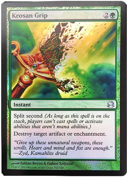 best green cards in commander format krosan grip MTG
