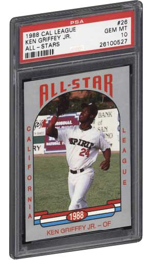 be96a64f86 ken griffey jr rookie card 1988 cal all star league psa graded gem mint 10