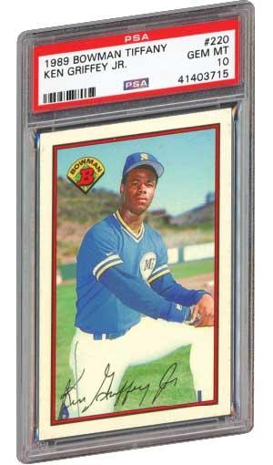93cdb60947 ken griffey jr. rookie card 1989 bowman tiffany 220 graded psa 10 gem mint
