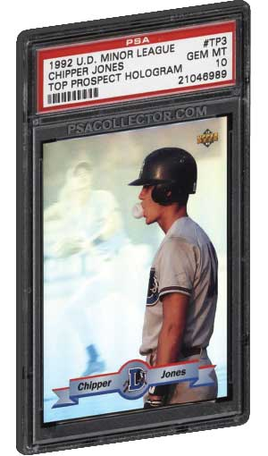 Top Chipper Jones Rookie Card Refractor And Inserts Psa Graded Value