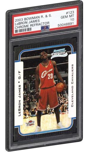 2003 Bowman Chrome Lebron James Rookie Card Refractor PSA Gem Mint 10
