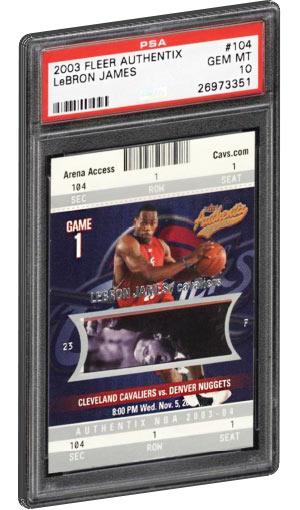 2003 Fleer Authentix Lebron James Rookie Card PSA Gem Mint 10