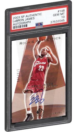 2003 SP Authentic Lebron James Rookie Card Autograph PSA Gem Mint 10