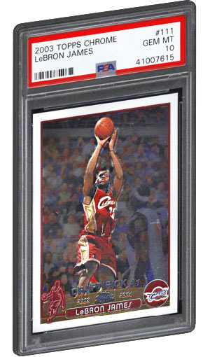 Lebron James Rookie Card Values Checklist Psa Graded