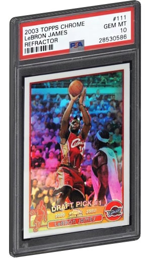 Lebron James Rookie Card Values Checklist Psa Graded Best Selling