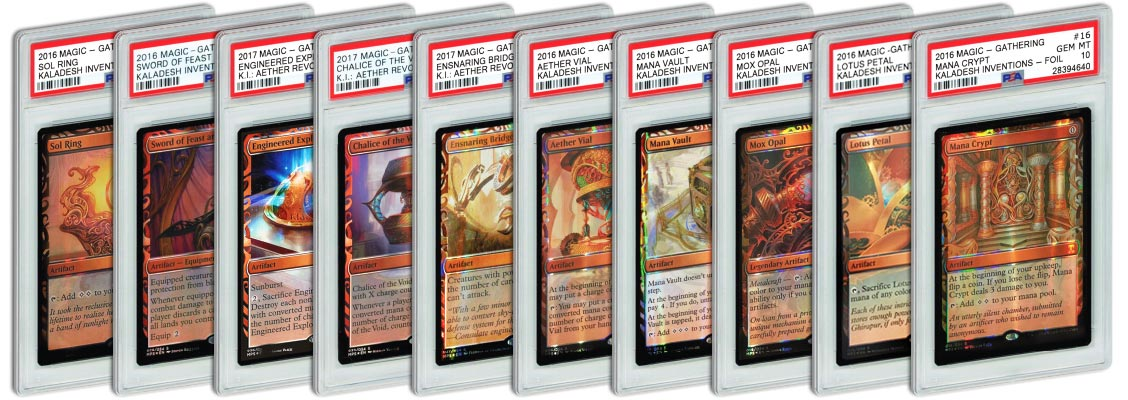 best 2016 & 2017 MTG Kaladesh Inventions cards to get PSA Graded 2