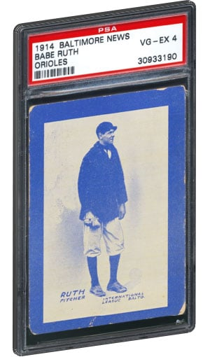 Top 10 Babe Ruth Baseball Card List Highest Selling Psa Graded Value