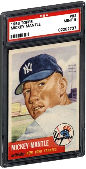 Top 15 Mickey Mantle Baseball Card List Psa Graded Value 1952 Topps