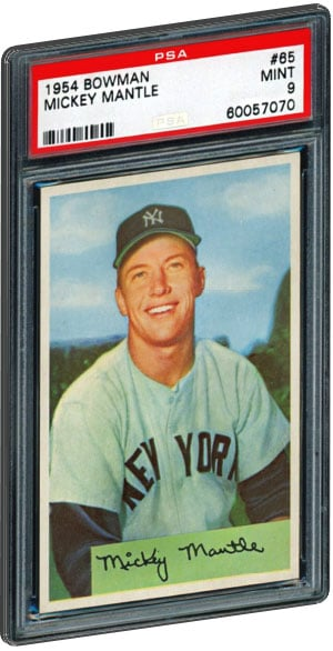 Top 15 Mickey Mantle Baseball Card List Psa Graded Value 1952 Topps
