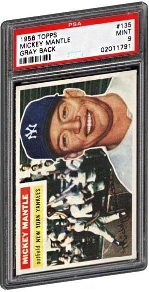 Top 15 Mickey Mantle Baseball Card List Psa Graded Value