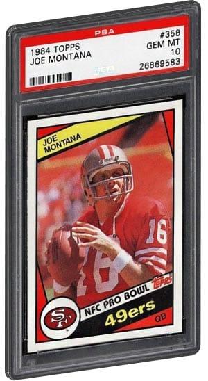 1984 Topps Joes Montana 358 PSA 10 Football Card