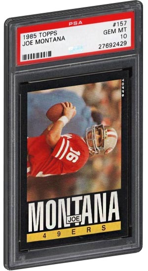 Top 20 Joe Montana Football Card List Psa Graded Rookie