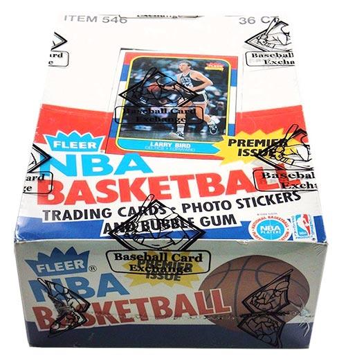 1986 Fleer Basketball Hobby 36 Pack Box