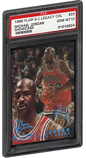 low priced a6c8d 54008 1996 Flair Showcase Legacy Collection Row 0 Michael Jordan Basketball Card  PSA Gem Mint 10