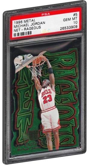 new product 10960 a29ff 1996 Metal Net Rageous Michael Jordan Basketball Card PSA Gem Mint 10