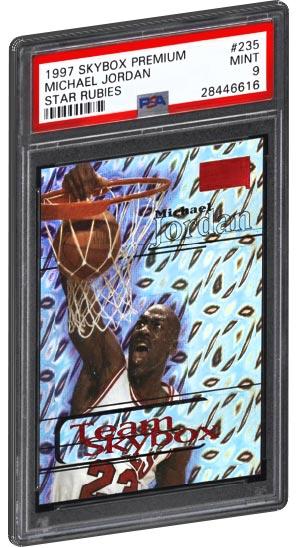 1997 Skybox Premium Michael Jordan Basketball Card Star Rubies PSA Gem Mint 10