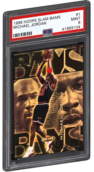 1998 Hoops Slam Bams Michael Jordan Basketball Card PSA Graded