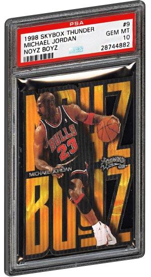 1998 Skybox Thunder Noyz Boyz Michael Jordan Basketball Card PSA Gem Mint 10
