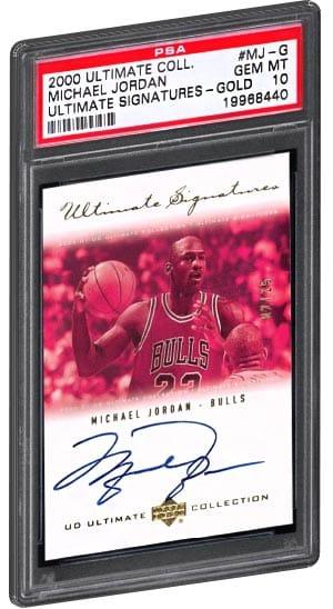 2000 Ultimate Collection Michael Jordan Ultimate Signatures Gold PSA Gem Mint 10