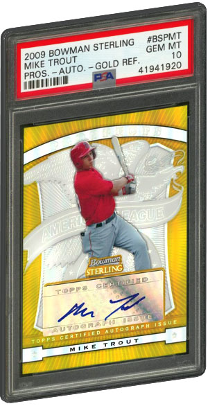 Top 10 Mike Trout Rookie Card List Baseball Card Value Psa Graded