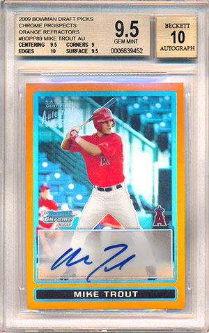 Top 10 Mike Trout Rookie Card List Baseball Card Value
