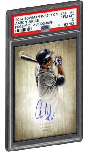 8849709cb 2014 Bowman Inception Aaron Judge Rookie Card Prospect Autograph on eBay