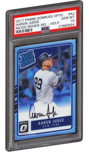 a257997b33e Aaron Judge Rookie Card 2017 Panini Donruss Optic Rated Rookie HOLO PSA 10