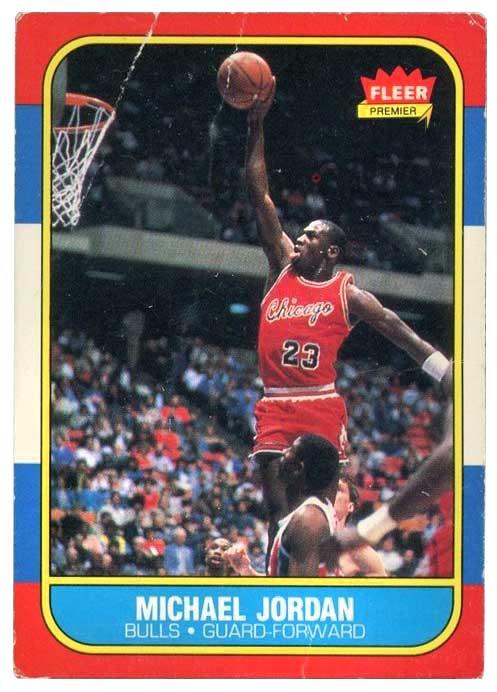 Lote de 2 Michael Jordan Basketball Trading Cards rara