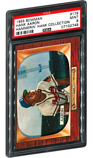 1955 Bowman Hank Aaron Baseball Card PSA Mint 9