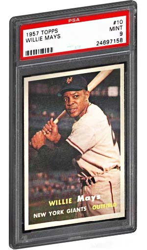 Top 15 Willie Mays Baseball Card List Psa Graded Topps