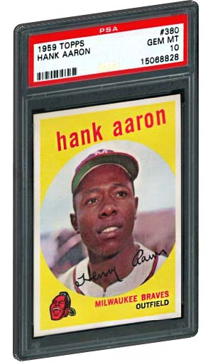 1959 Topps Hank Aaron baseball card PSA gem mint 10