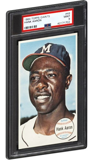 1964 Topps Giants Hank Aaron Baseball card PSA Graded