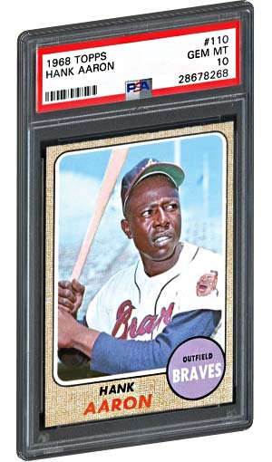 1968 Topps Hank Aaron Baseball Card PSA Gem Mint 10