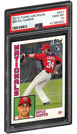 2012 Topps Archives Bryce Harper Rookie Card graded psa 10 gem mint condition