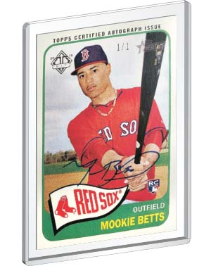 2014 Topps Heritage Mookie Betts Rookie Card Real One Autograph one of one