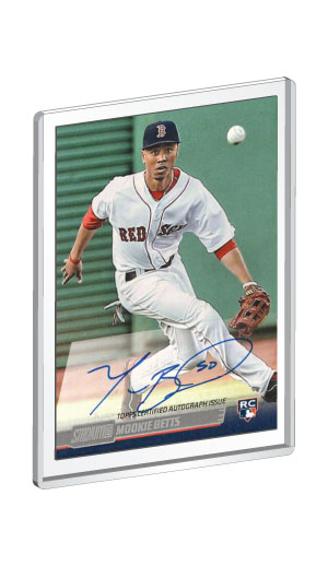 2014 Topps Stadium Club Mookie Betts Rookie Card autograph