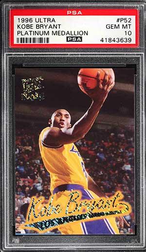 Highest Selling Kobe Bryant Basketball Card Rookie