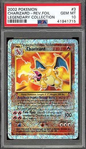 Rare Charizard Pokemon Card Holo PSA NM-Mint Base Set 2 Original Foil #4